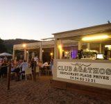Dîner les pieds dans le sable #restaurant #plage #poisson #rizoto #soir #soleilcouchant #beach #sand #sable #fish #evening #sunset #clubagathos #agathos