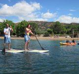 famille-paddle-canoe-kayak-mer-plage-agay-var