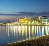 ville saint raphael plage soir