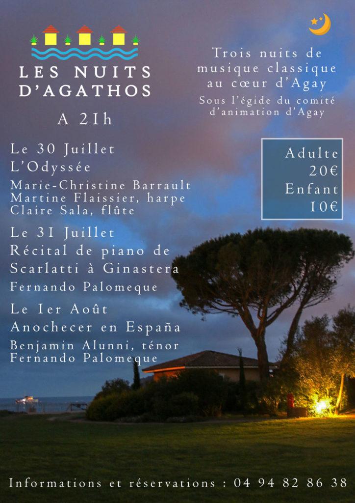 programme nuits d'Agathos